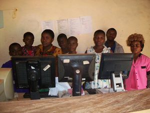 These students are learning computer at FEPCIG CENTRE. They need your support in order to have their on computers upon graduation so as to be independent. We thank you.
