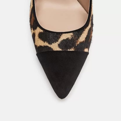 The Ferago Leopard Fur Pumps 3