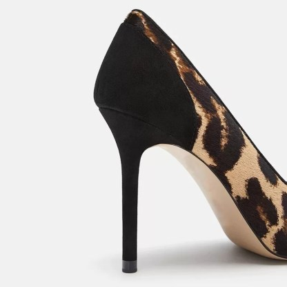 The Ferago Leopard Fur Pumps 4