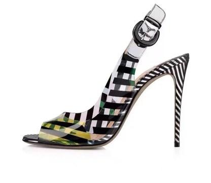 The Ferago Multicolor PVC Heels 1