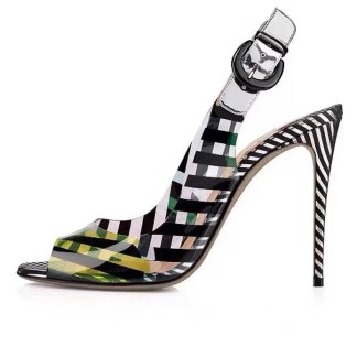 The Ferago Multicolor PVC Heels 1