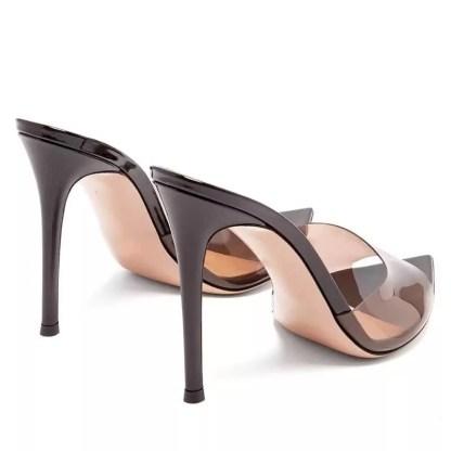 The Ferago Open Toe PVC Transparent Mules 7