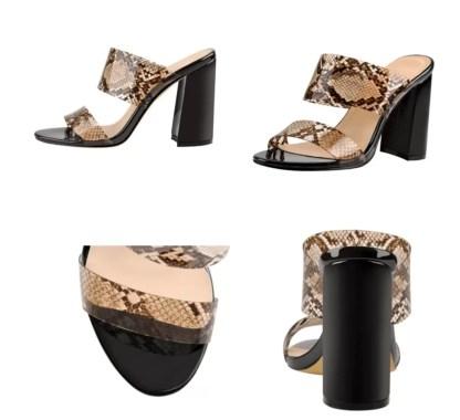 The Ferago PVC Chunk Heels 3