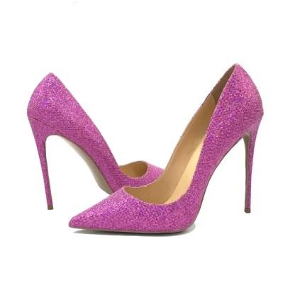 The Ferago Pink Glitter Pumps 1
