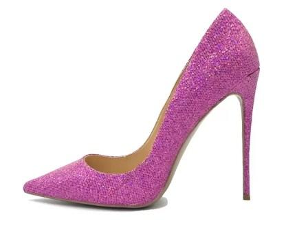 The Ferago Pink Glitter Pumps 3