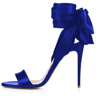 The Ferago Satin Sandals 3