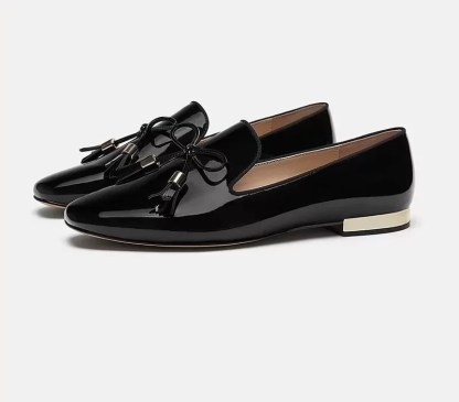 The Ferago Shinning Leather Loafers 2