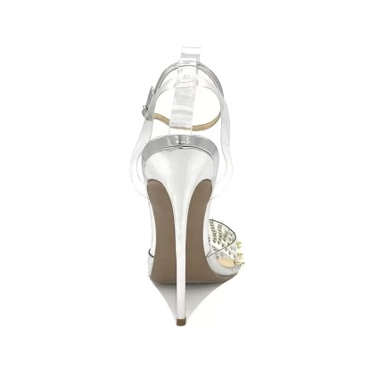 The Ferago Silver Rivet Pumps 5
