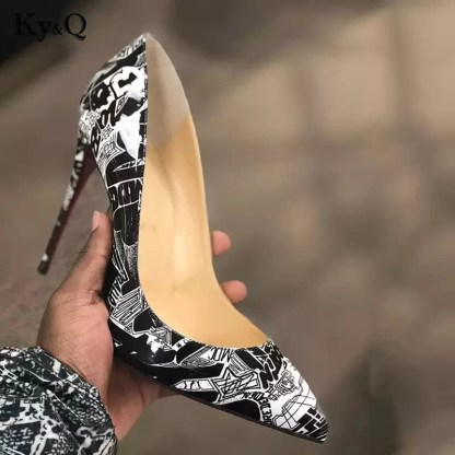 The Ferago Orla Graffiti Pumps 4