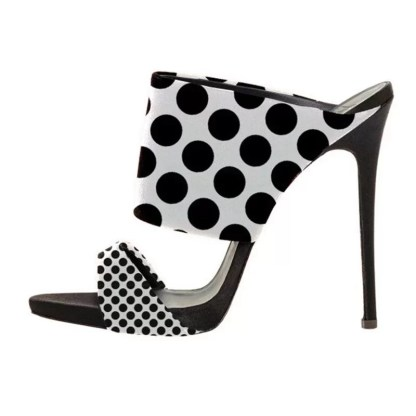 The Ferago Polka Dot Retro Mules 1
