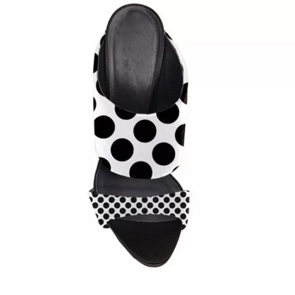 The Ferago Polka Dot Retro Mules 3