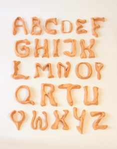 clay typeface alphabet