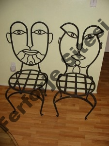 Ferforje sandalye