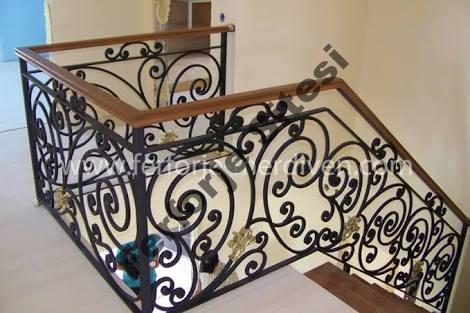 ferforje villa merdiven korkuluklari