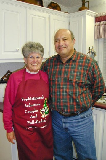 Wilma & Wayne apron saying