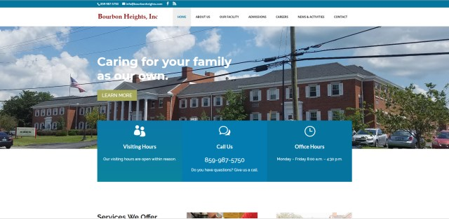 Bourbon Heights website