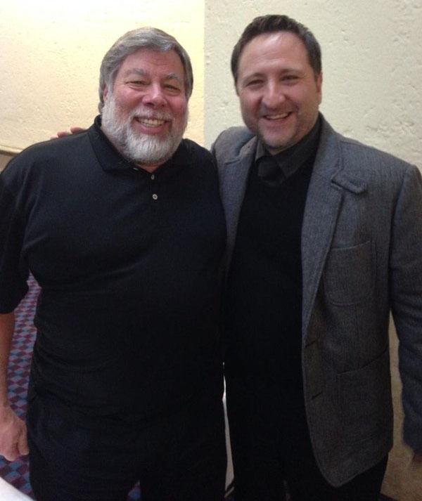 Steve Wozniak and Fernando Gutiérrez