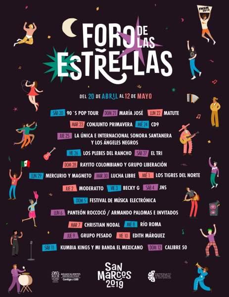 Foro de las estrellas Feria San Marcos 2019