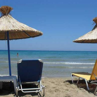 Strand bei Zorbas Kreta
