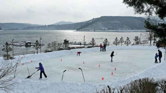 schaatsen skaten auf Edersee