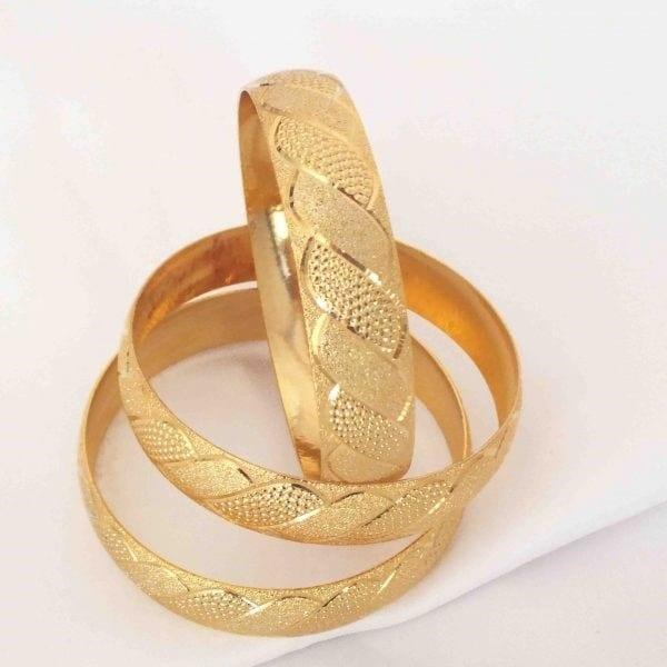 İmitasyon Altın Bilezik 15mm Kalınlık