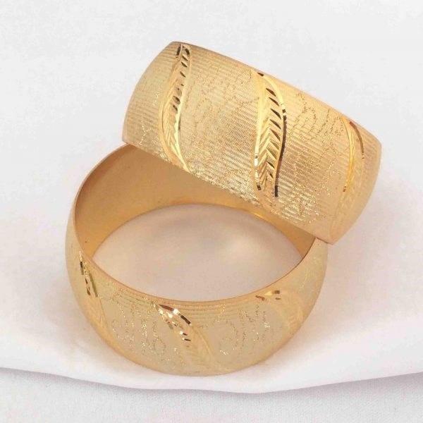 Altın Kaplama Mega Bilezik 30mm Kalınlık
