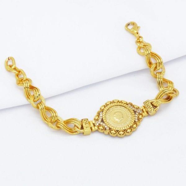 Altın Kaplama Çeyrekli Bileklik BLK-372