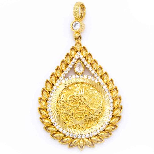 Altın Kaplama Tuğralı Kolye Ucu TGR-129