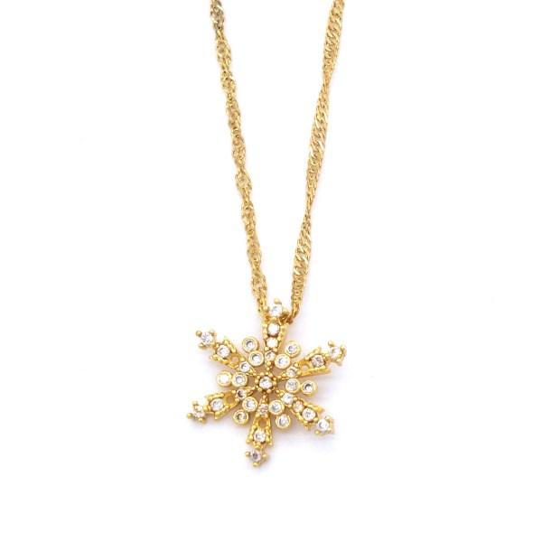 FerizZ Altın Kaplama Zirkon Taşlı Yıldız Şekilli Şık Kadın Kolye KLY-246