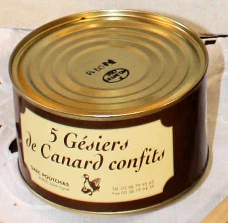 Ferme Poutchas - confit de canard 6 gésiers