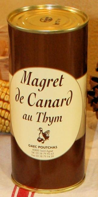 Ferme Poutchas - MAGRET DE CANARD AU THYM