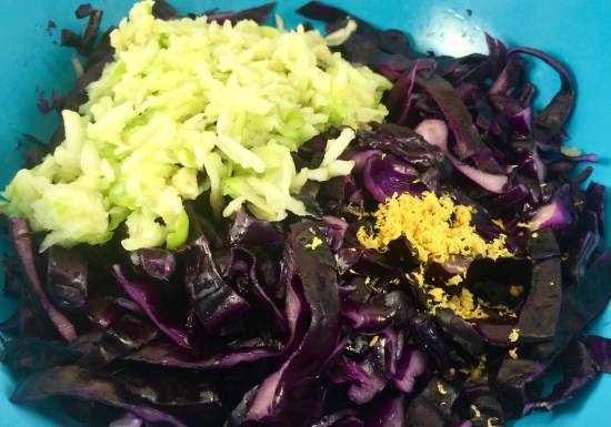 Fermented Red Cabbage Sauerkraut With Apples