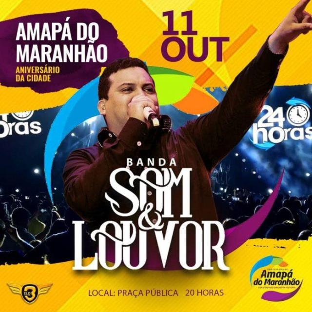 Atrações oficiais dos 23 anos de Amapá do Maranhão