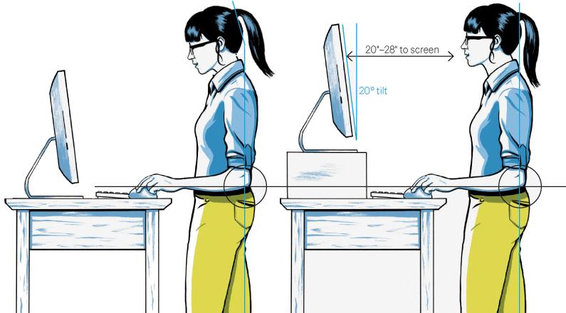 Pseudo-standing desk para probar…