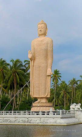 Standing Buddha Hikkaduwa Sri Lanka