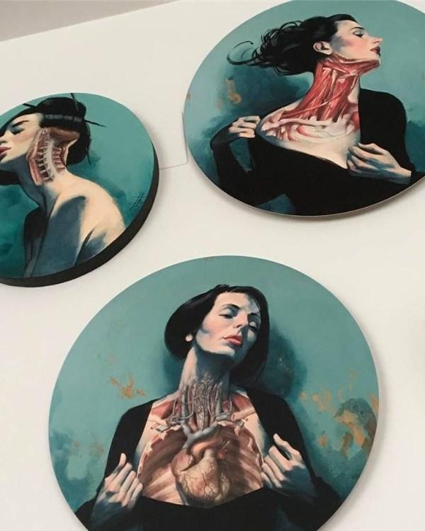 Vanitas y Venus Impresiones sobre aluminio & polímeros vitreos