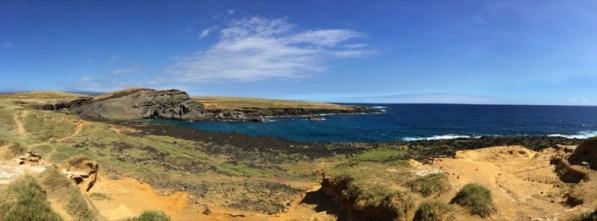 Big Island Hawaii - Green Sands - zu Fuss über Fels, Sand und Stein