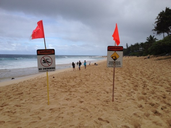 Hawaii O´ahu North Shore - nass, kalt und windig