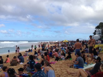 Hawaii O´ahu North Shore - Billabong Pipemasters 2014 Besucher