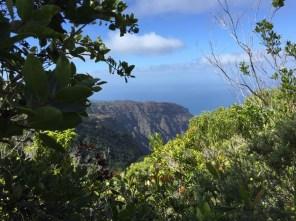 Kauai Hawaii - Napali Coast von oben - ein ersten Blick erhascht
