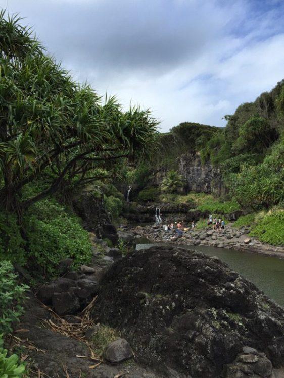 Maui Hawaii - Wasserfälle - oder dort wo die Schlappies sind