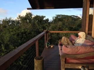 Maui Hawaii - ich beim bloggen - muss sein, auch bei der Kälte