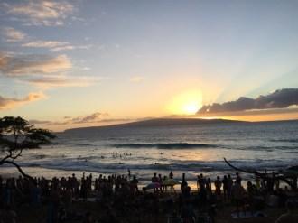 Maui Hawaii - Sonnenuntergang Little Beach