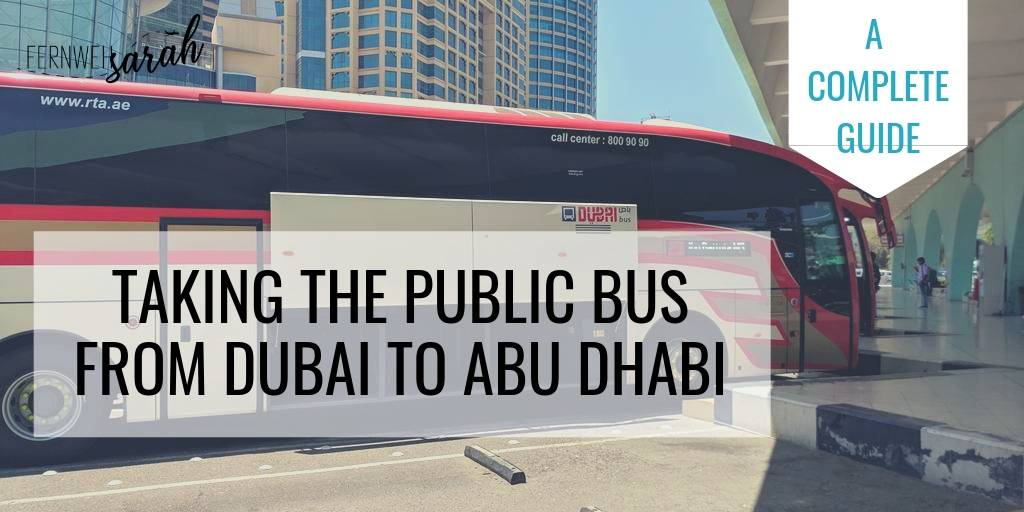 Bus from Dubai to Abu Dhabi - everything you need to know