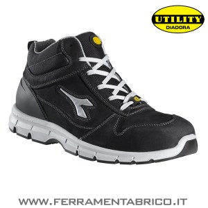 SCARPE ANTIFORTUNISTICHE DIADORA HI RUN-NERO