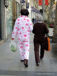 china pajamas public
