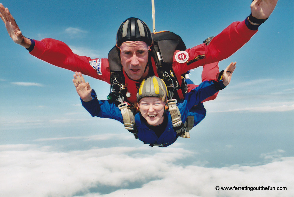 Skydiving in upstate New York.