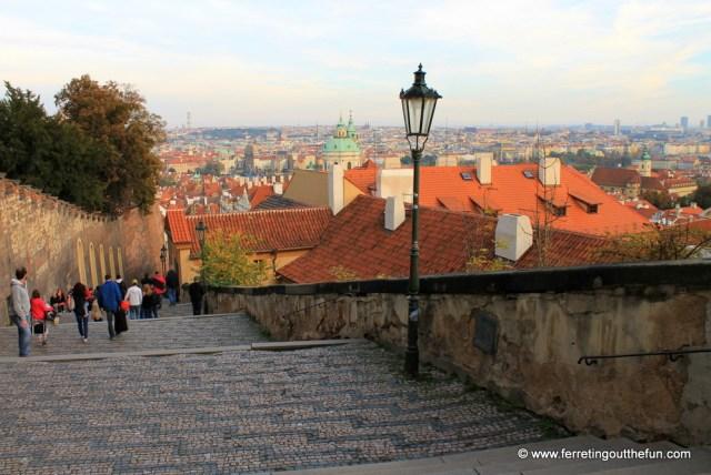 The Old Castle Steps, quintessential Prague.