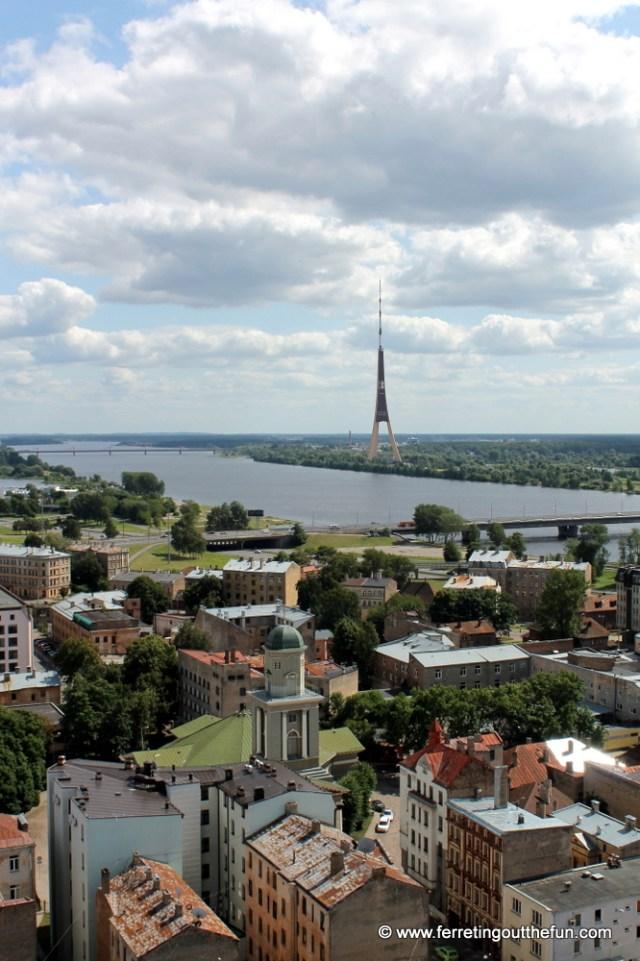 A birds-eye view of lovely Riga, Latvia