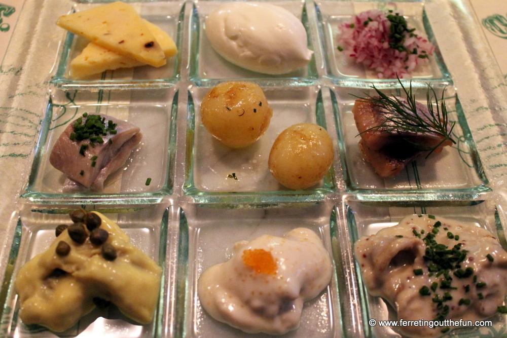 Pickled herring platter
